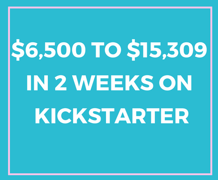 From $6500 to over $15k on Kickstarter
