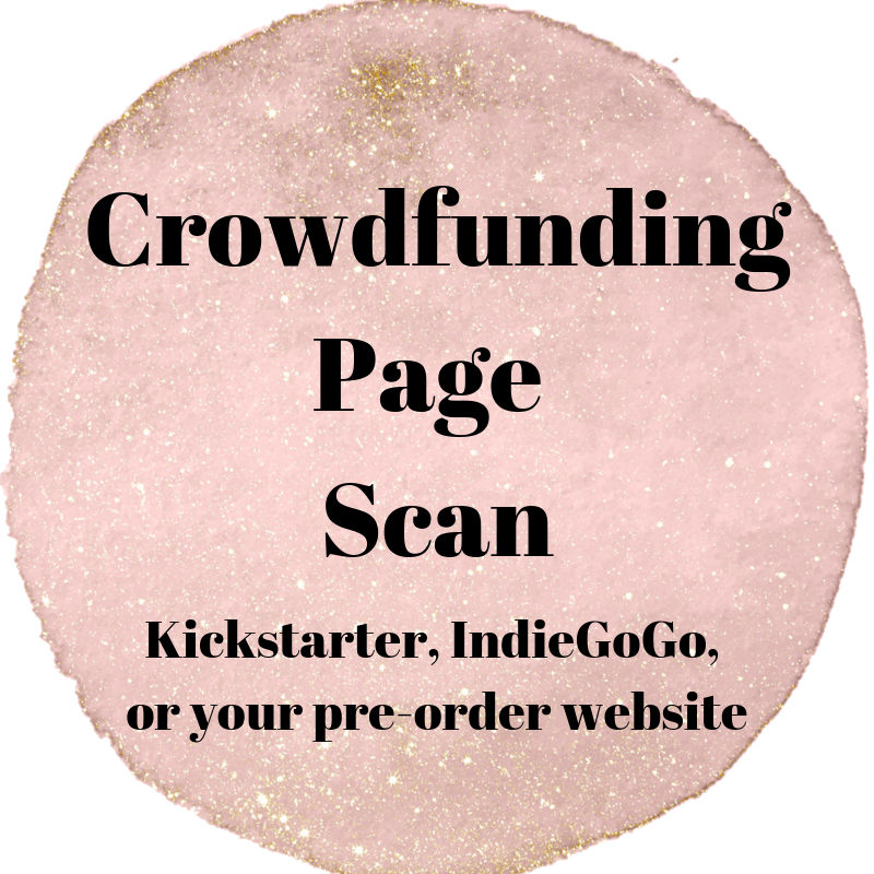 crowdfunding page scan