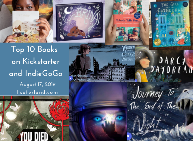 Top 10 Books on Kickstarter and IndieGoGo aug 172019